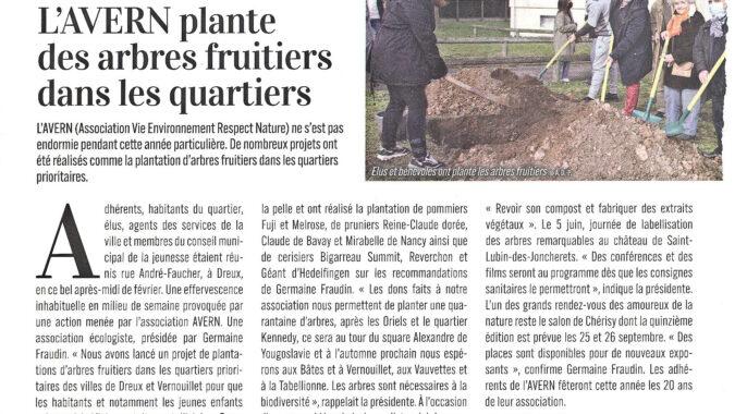 Plantation d'arbres fruitiers 1ère tranche au quartier Dunant